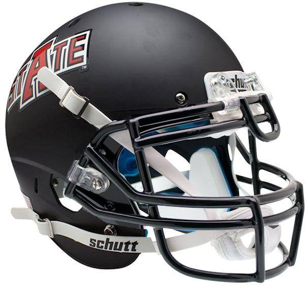 Arkansas State Red Wolves Authentic College XP Football Helmet Schutt  <B>Matte Black</B>