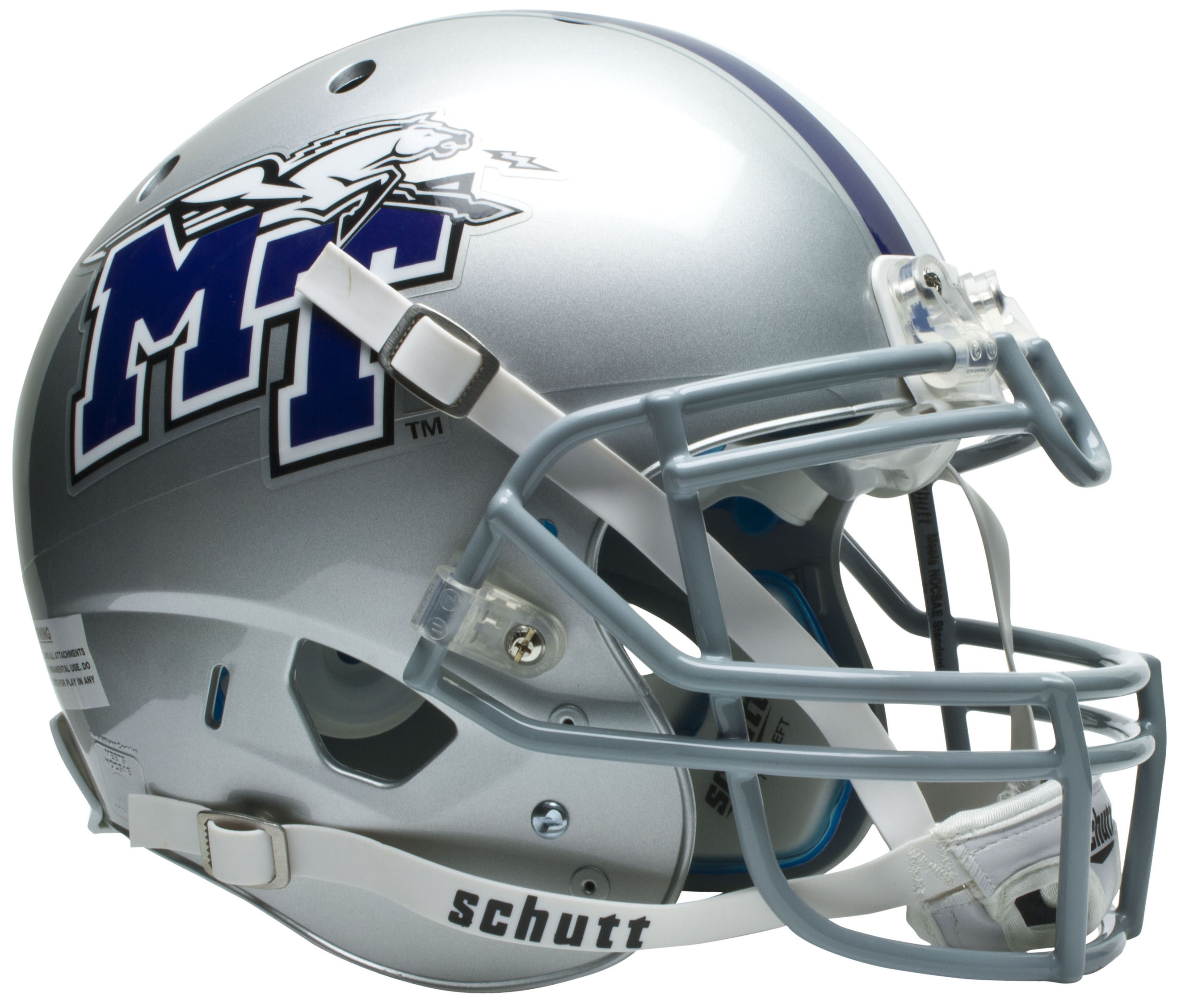 Middle Tennessee State Blue Raiders Authentic College XP Football Helmet Schutt