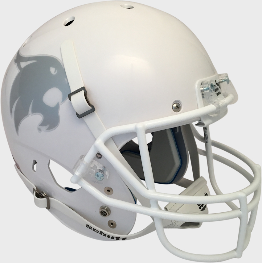 Texas State Bobcats Full XP Replica Football Helmet Schutt <B>White</B>