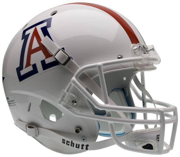 Arizona Wildcats Full XP Replica Football Helmet Schutt <B>White with Stripe</B>