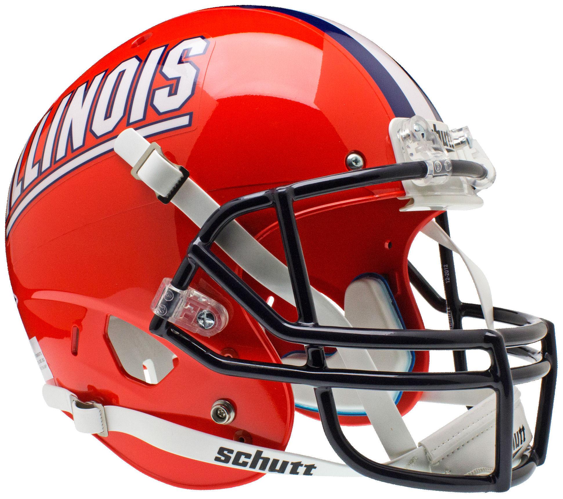 Illinois Fighting Illini Full XP Replica Football Helmet Schutt