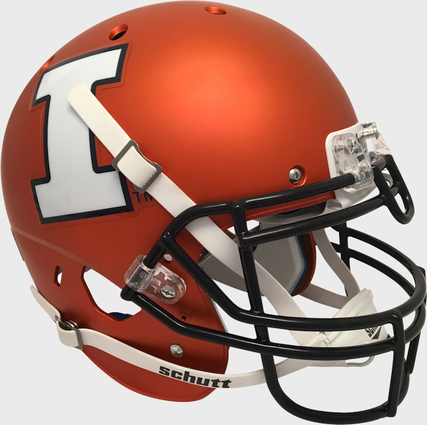 Illinois Fighting Illini Authentic College XP Football Helmet Schutt <B>Satin Orange</B>