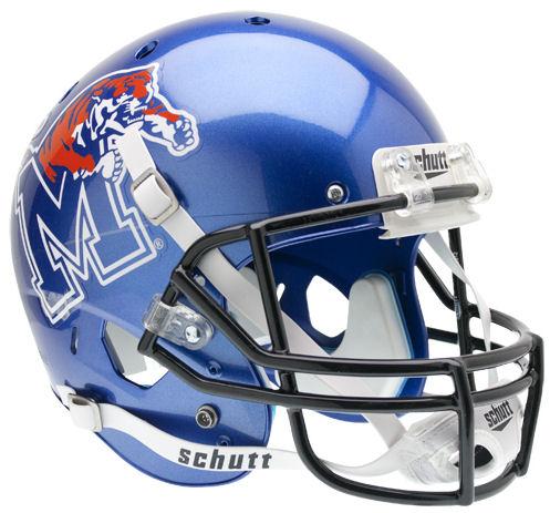 Memphis Tigers Full XP Replica Football Helmet Schutt