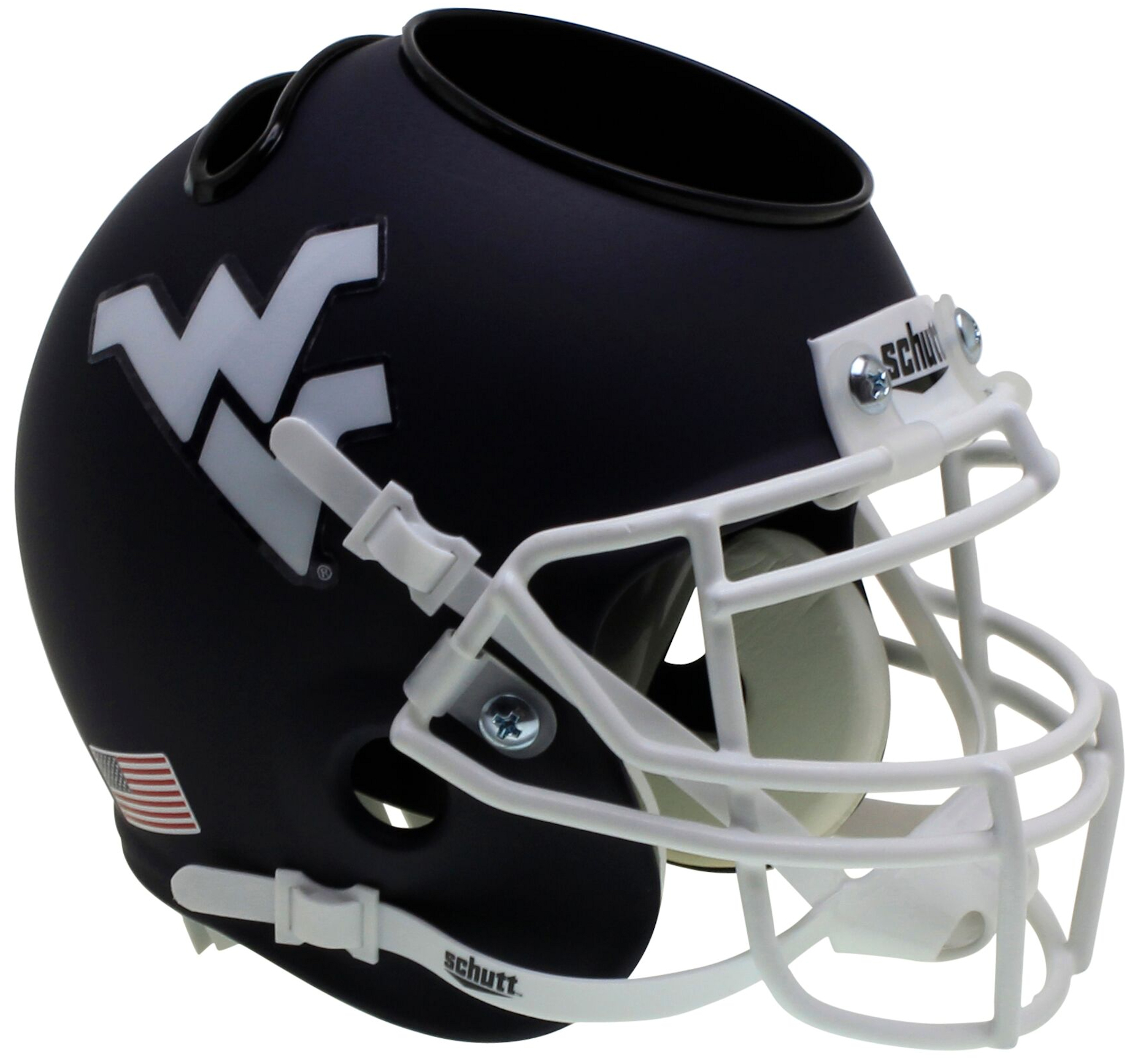 West Virginia Mountaineers Miniature Football Helmet Desk Caddy <B>Matte Navy</B>
