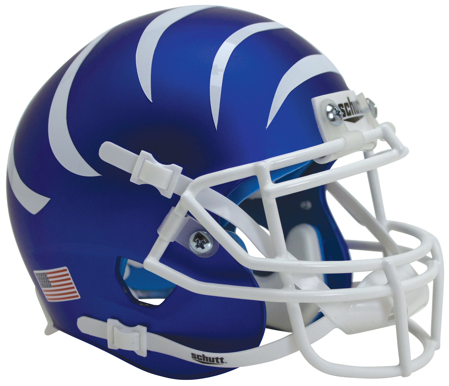 Memphis Tigers Miniature Football Helmet Desk Caddy <B>Matte Blue with Stripes</B>