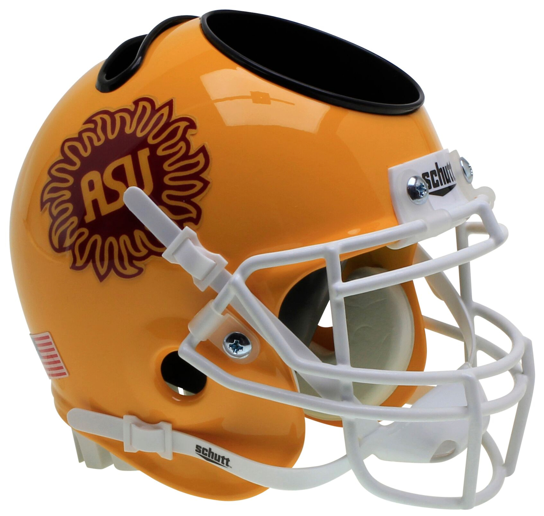 Arizona State Sun Devils Miniature Football Helmet Desk Caddy <B>Sunburst</B>