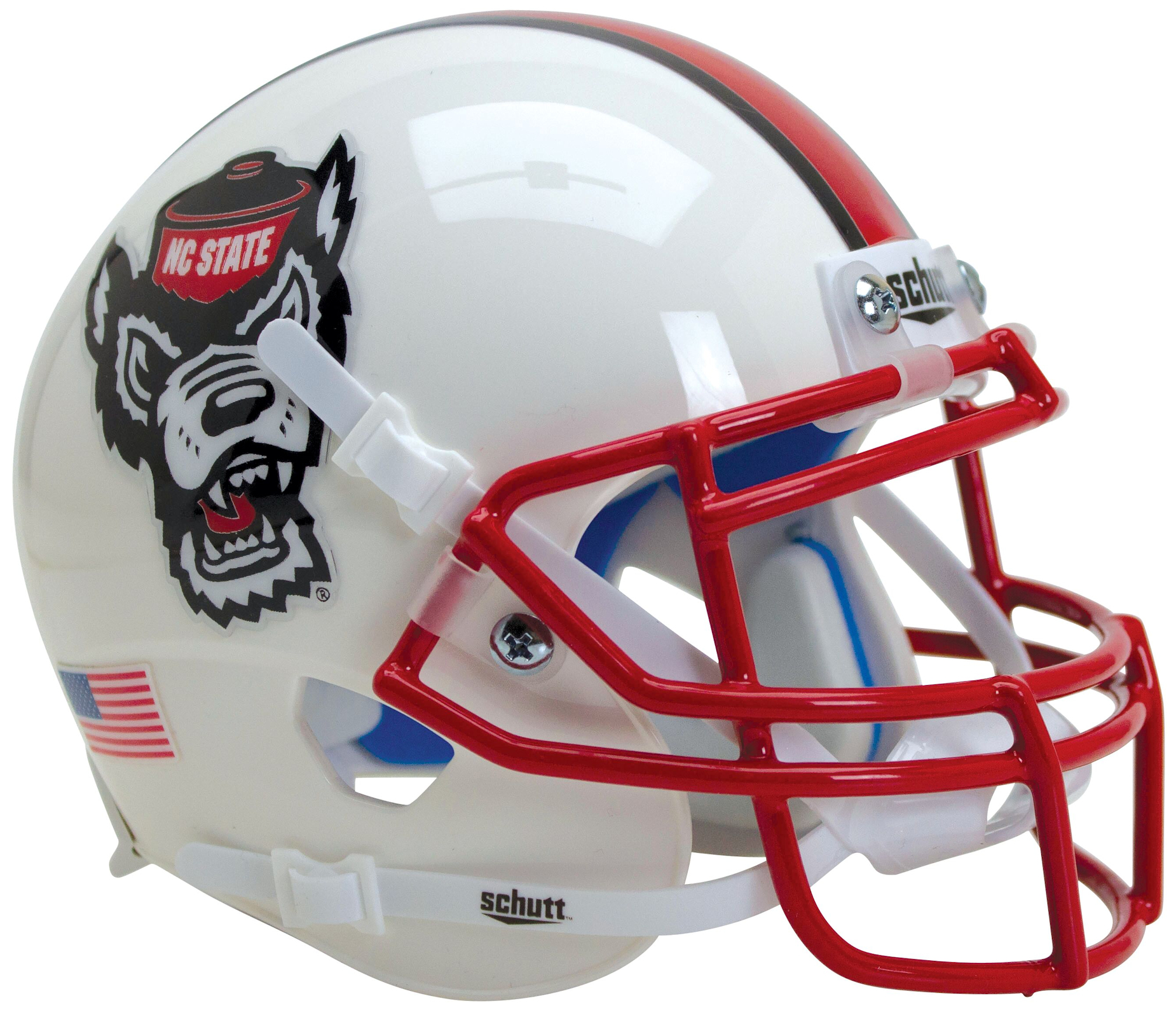 North Carolina State Wolfpack Authentic College XP Football Helmet Schutt <B>White Wolf</B>