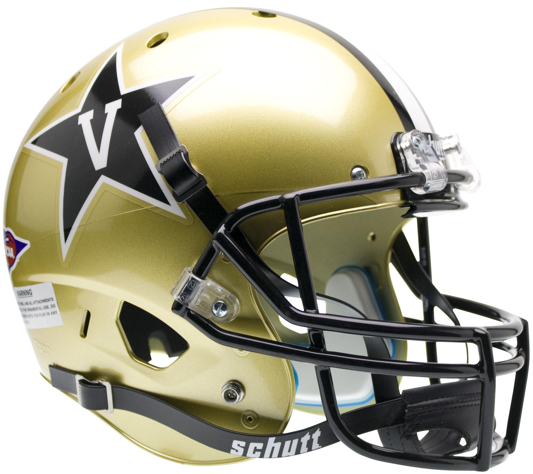 Vanderbilt Commodores Full XP Replica Football Helmet Schutt