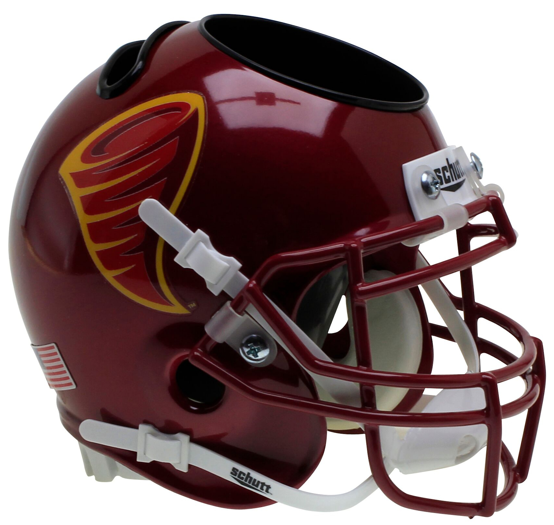 Iowa State Cyclones Miniature Football Helmet Desk Caddy <B>Cyclone</B>