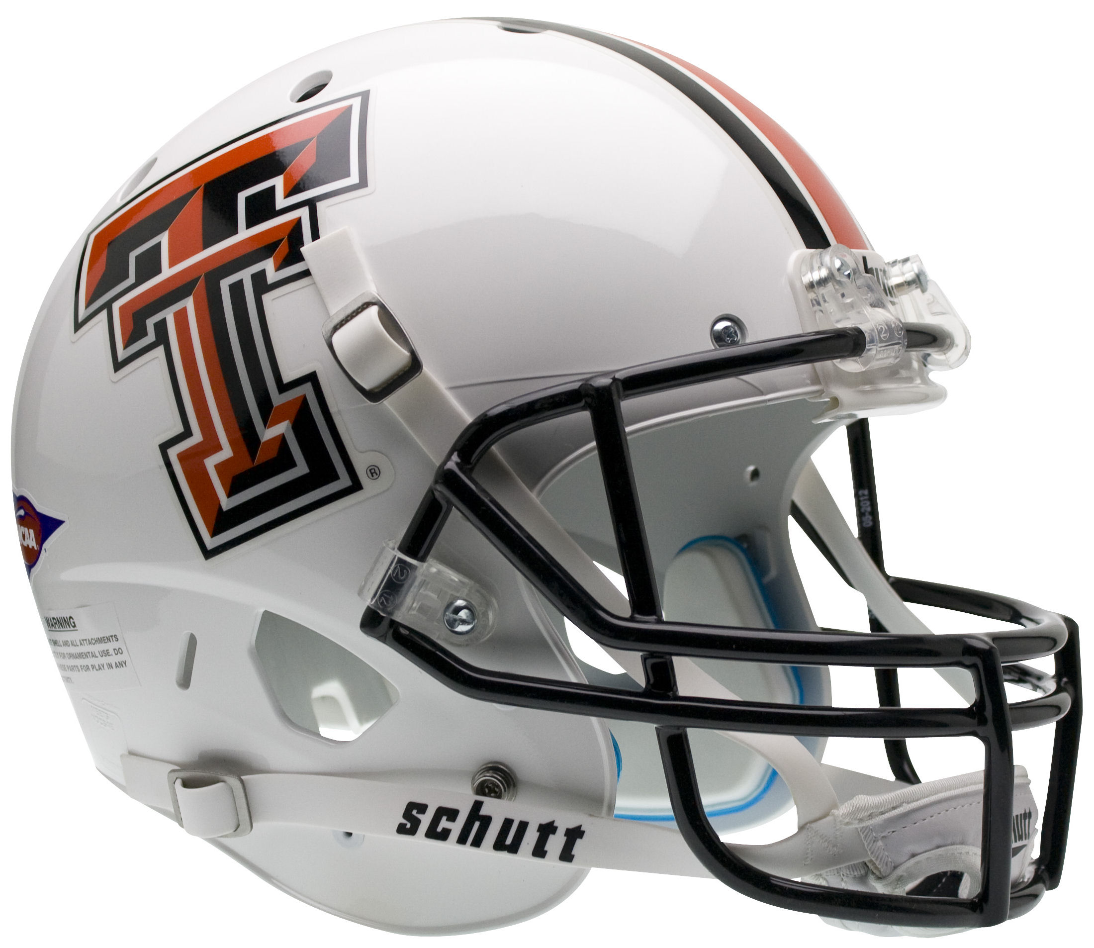 Texas Tech Red Raiders Full XP Replica Football Helmet Schutt <B>White</B>