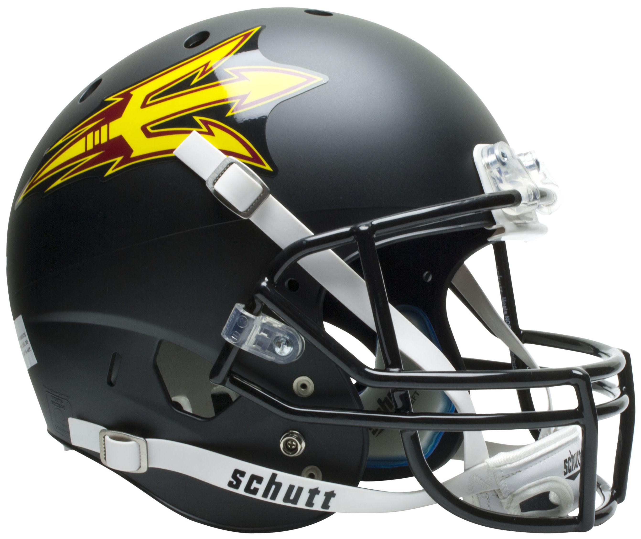 Arizona State Sun Devils Full XP Replica Football Helmet Schutt <B>Matte Black</B>