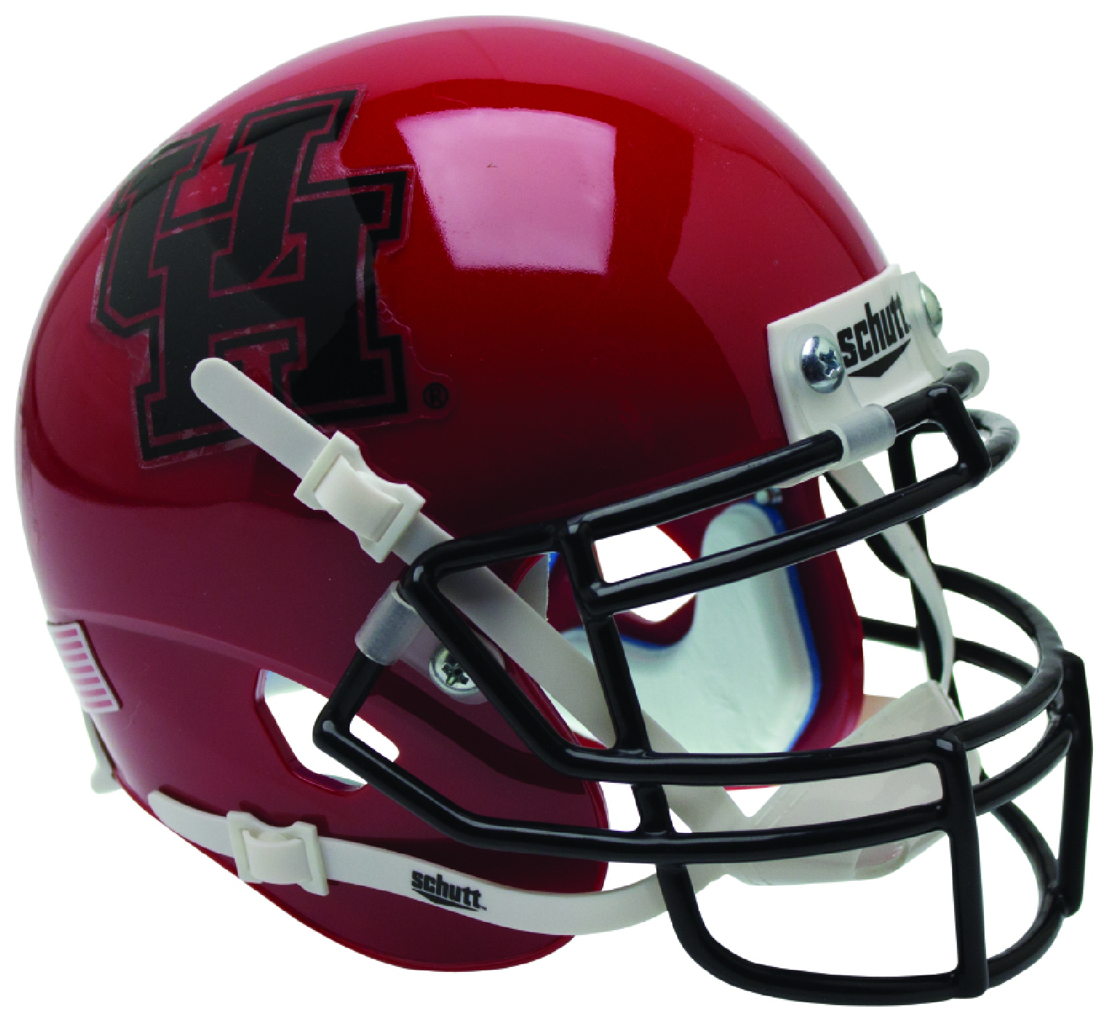 Houston Cougars Authentic College XP Football Helmet Schutt <B>Black Mask</B>