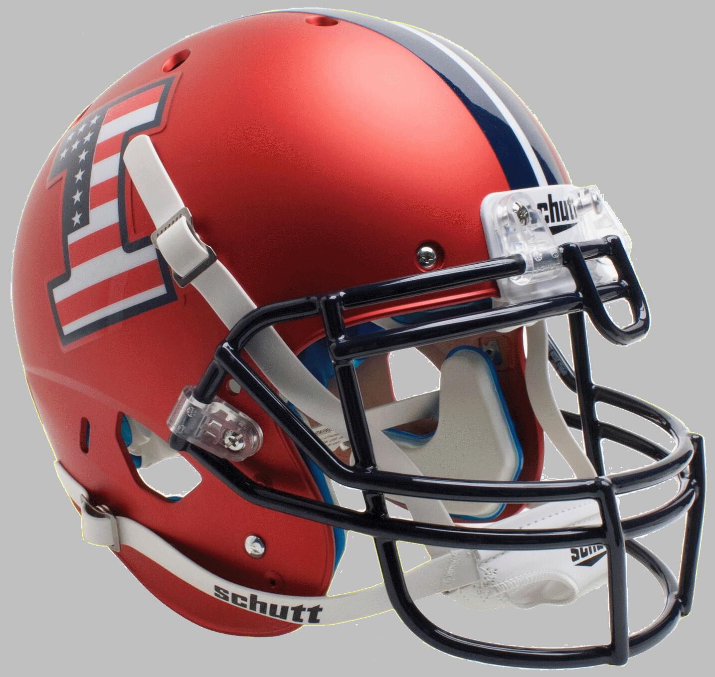 Illinois Fighting Illini Authentic College XP Football Helmet Schutt <B>Satin Orange Flag Decal</B>