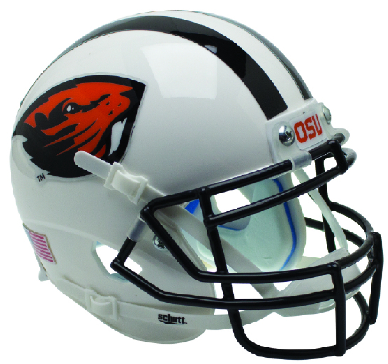 Oregon State Beavers Authentic College XP Football Helmet Schutt <B>White Beaver</B>