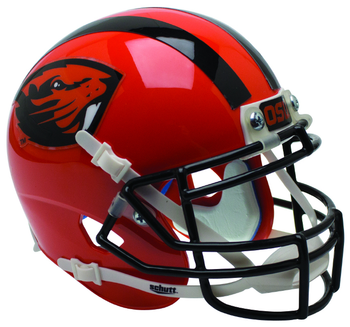 Oregon State Beavers Authentic College XP Football Helmet Schutt <B>Orange Beaver</B>