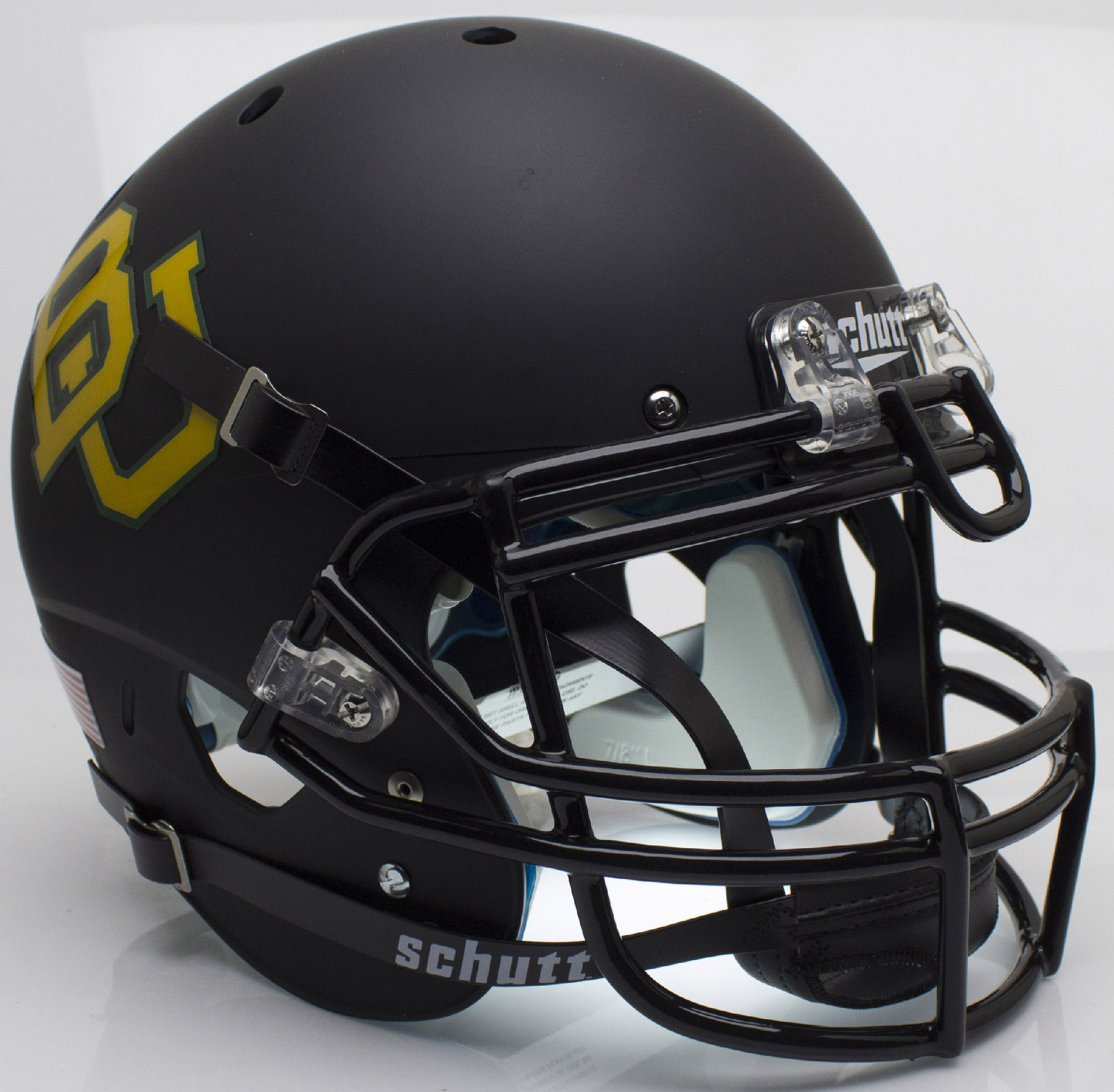 Baylor Bears Authentic College XP Football Helmet Schutt <B>Matte Black</B>
