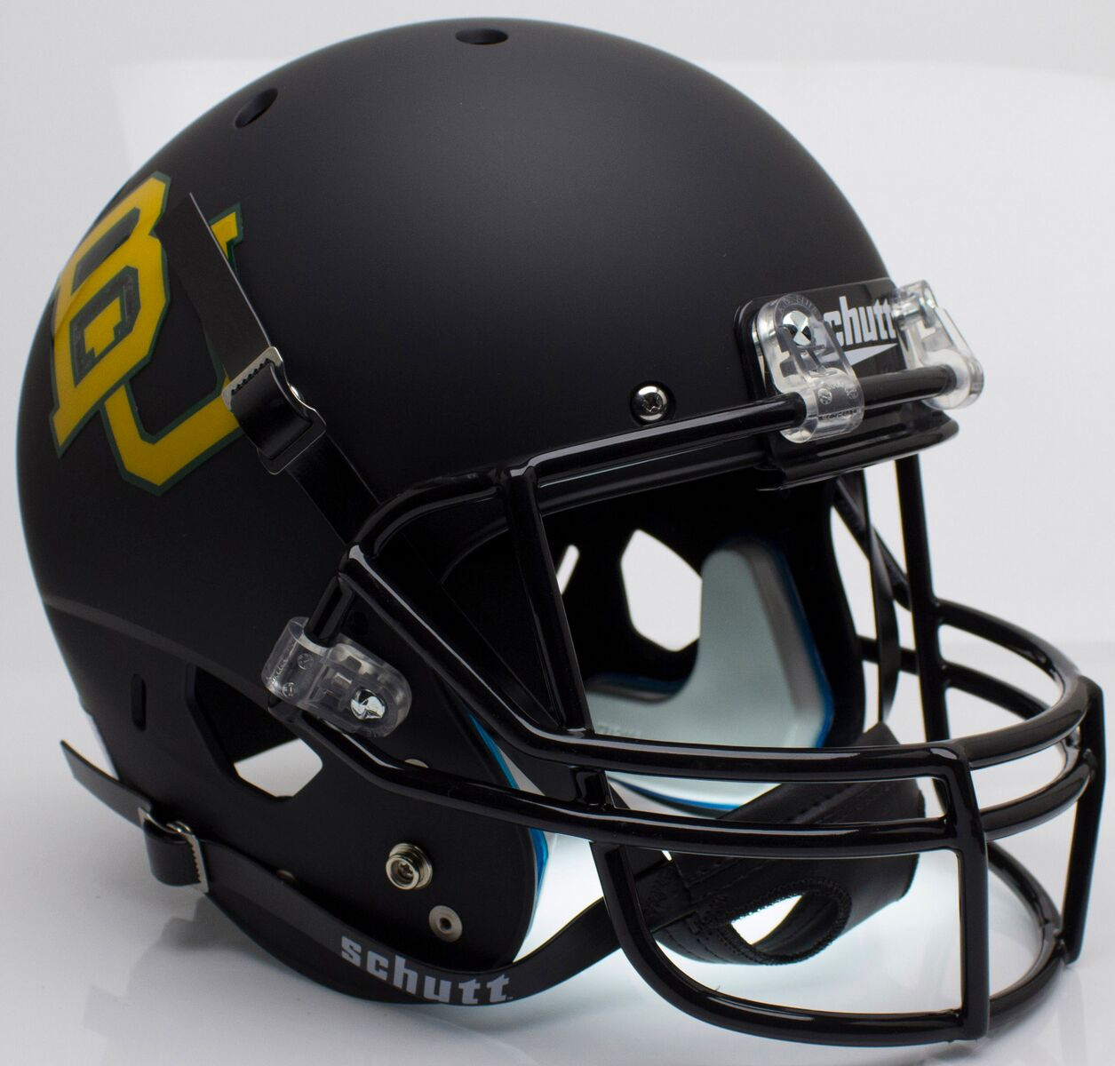 Baylor Bears Full XP Replica Football Helmet Schutt <B>Matte Black</B>