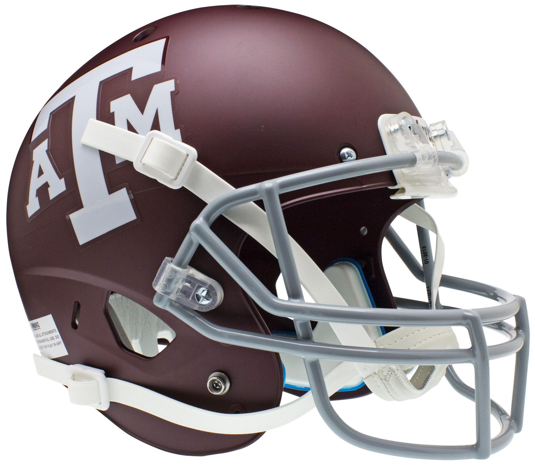 Texas A&M Aggies Full XP Replica Football Helmet Schutt <B>Matte Maroon</B>