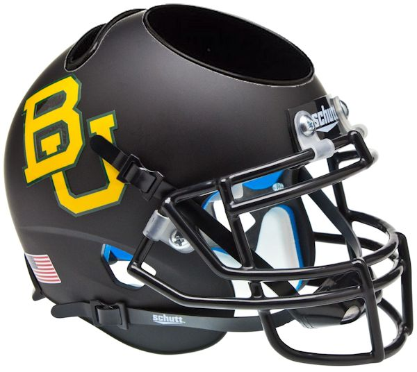 Baylor Bears Miniature Football Helmet Desk Caddy <B>Matte Black</B>