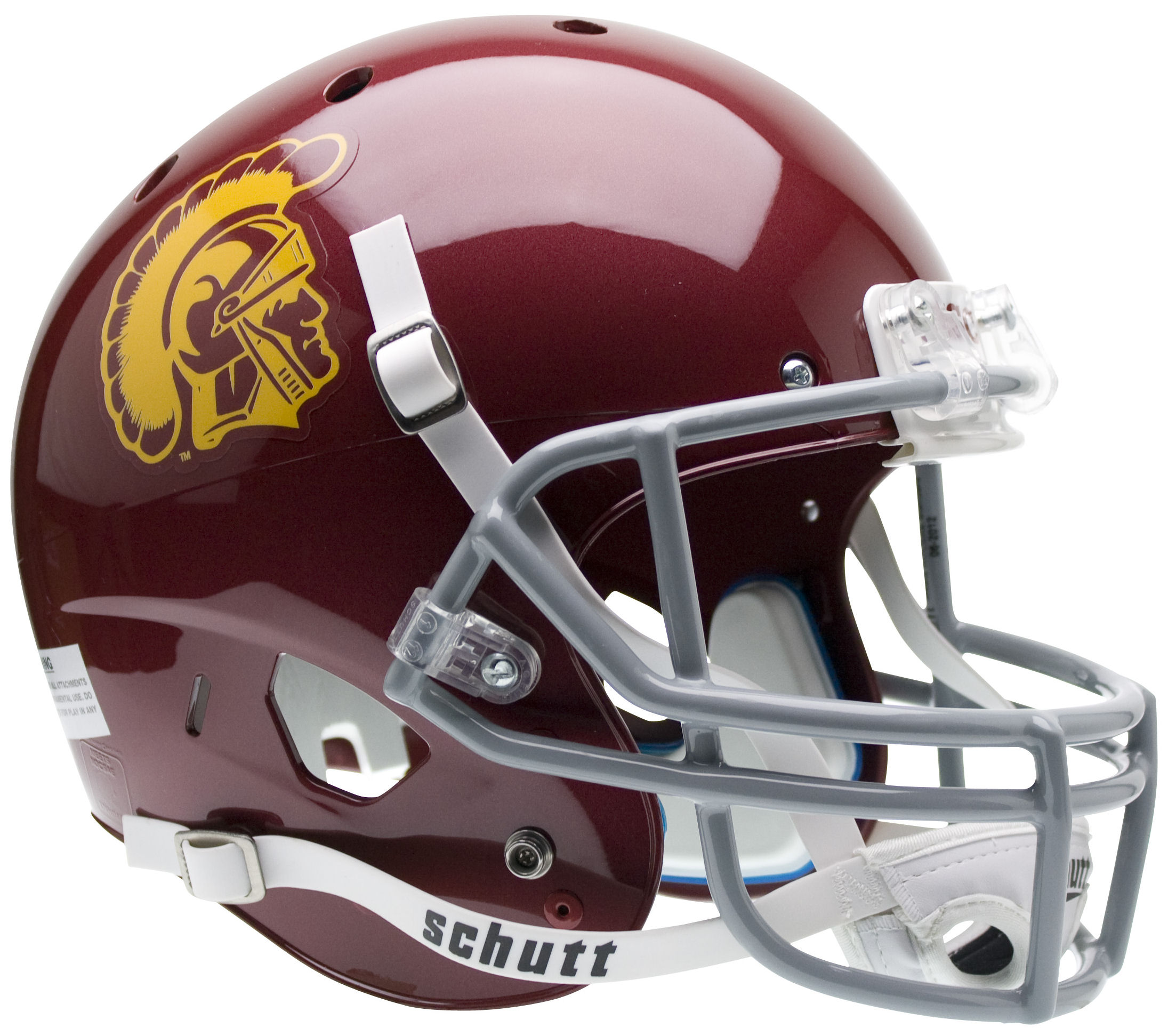 USC Trojans Full XP Replica Football Helmet Schutt