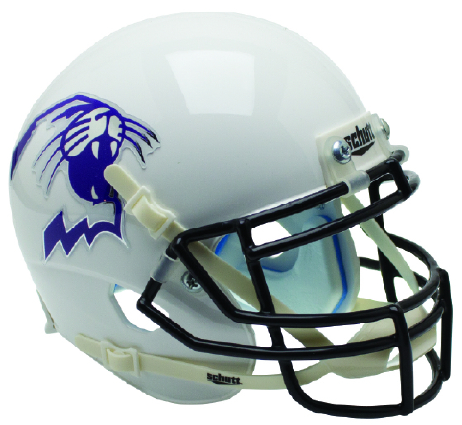 Northwestern Wildcats Full XP Replica Football Helmet Schutt <B>White Wildcat</B>