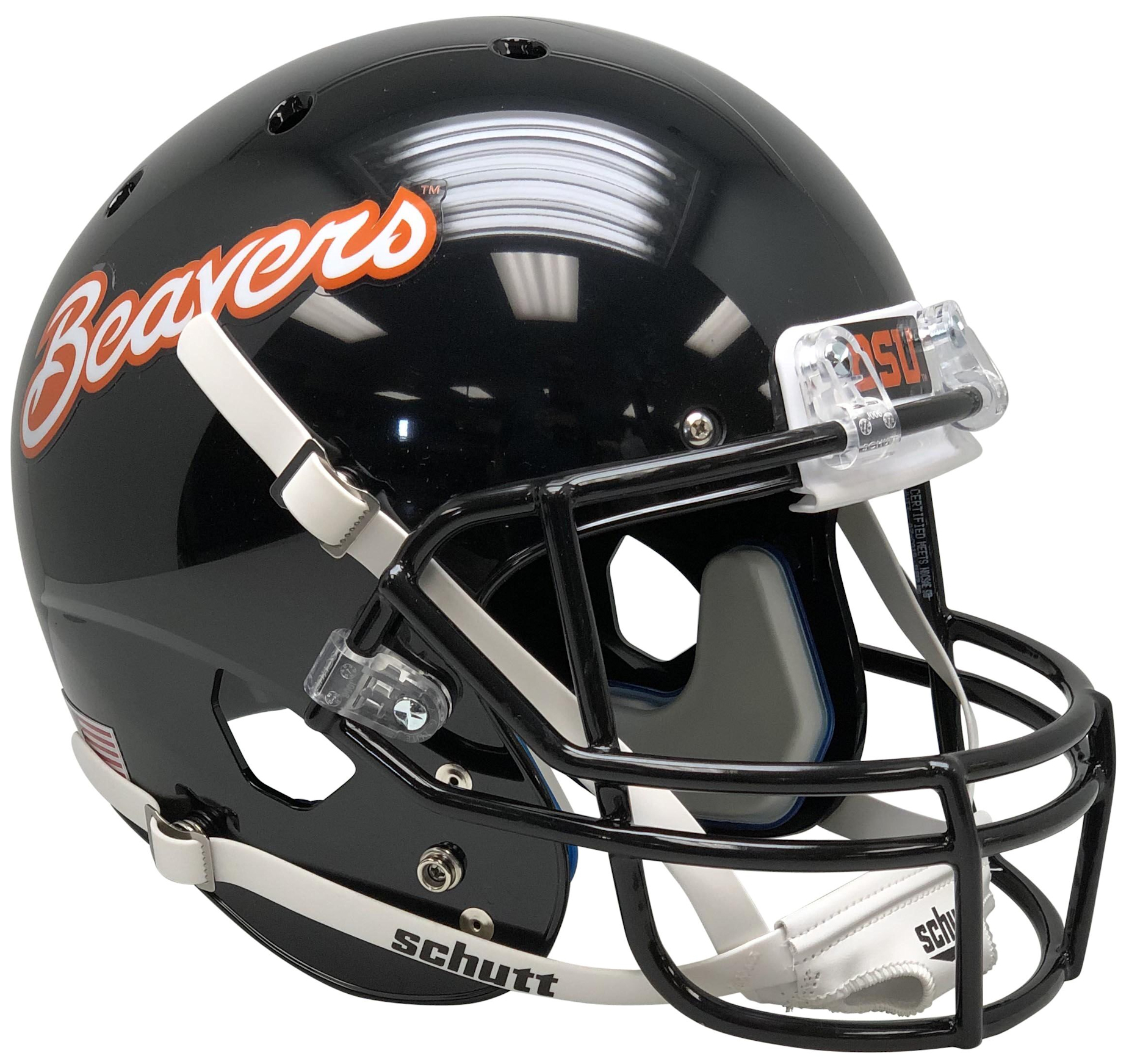 Oregon State Beavers Full XP Replica Football Helmet Schutt <B>Black Beavers</B>