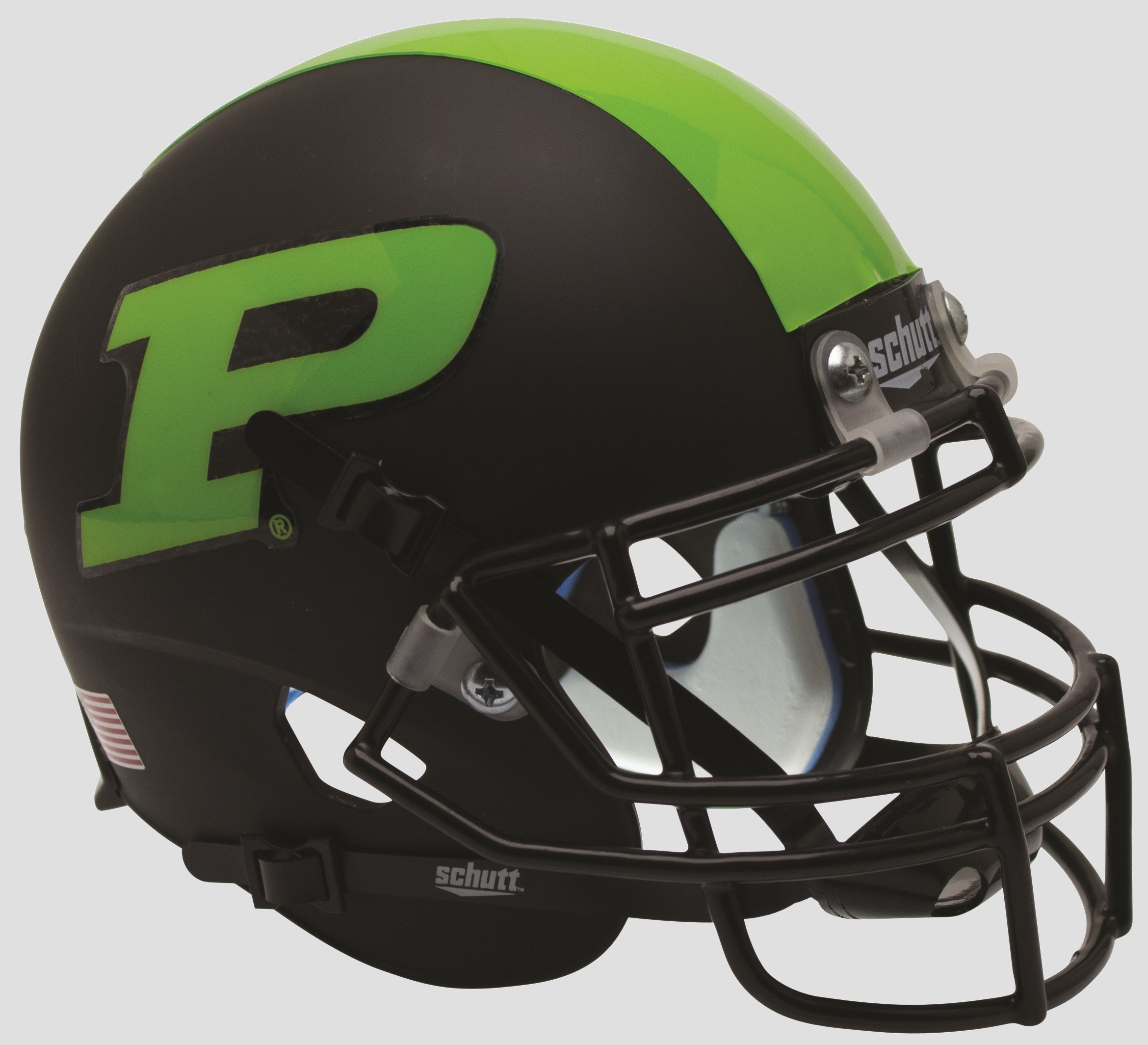 Purdue Boilermakers Full XP Replica Football Helmet Schutt <B>Green Stripe</B>