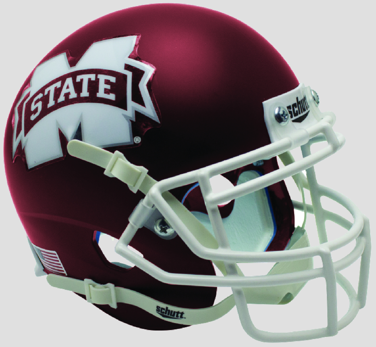 Mississippi State Bulldogs Full XP Replica Football Helmet Schutt <B>Satin Maroon</B>