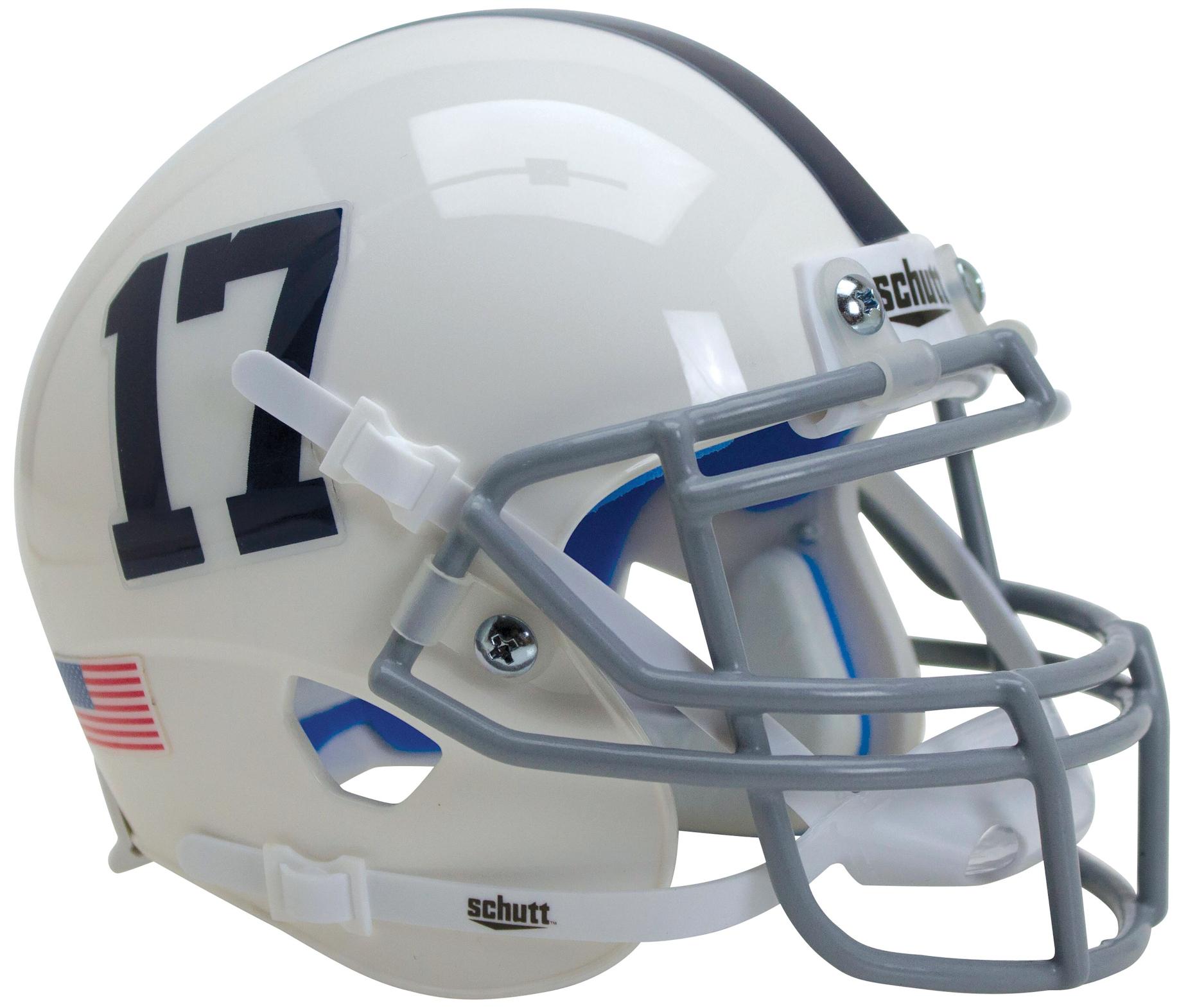 Penn State Nittany Lions Full XP Replica Football Helmet Schutt <B>White Number 17</B>