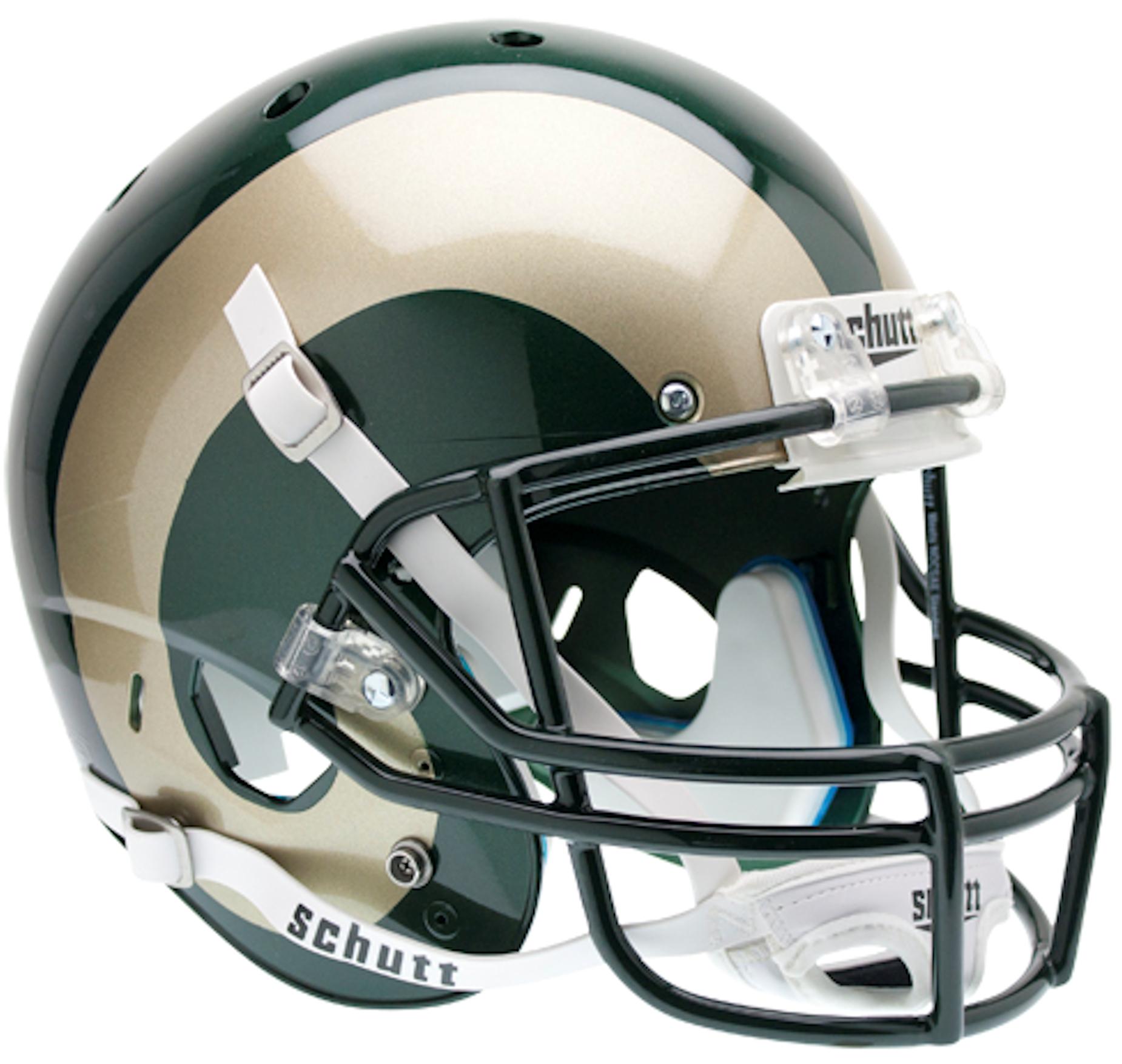 Colorado State Rams Full XP Replica Football Helmet Schutt