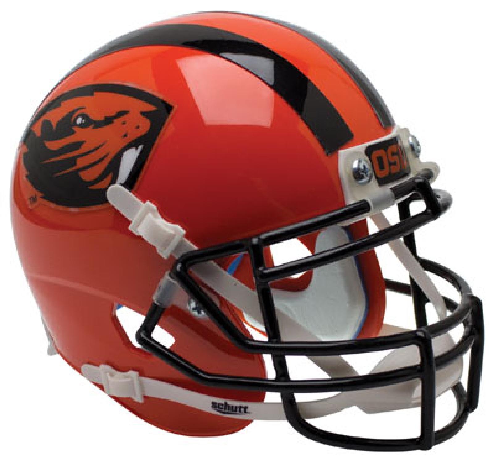 Oregon State Beavers Mini XP Authentic Helmet Schutt <B>Orange Beaver</B>