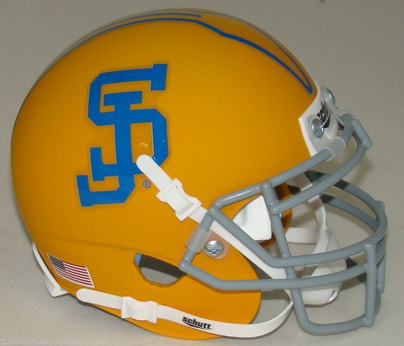 San Jose State Spartans Mini XP Authentic Helmet Schutt <B>Yellow</B>