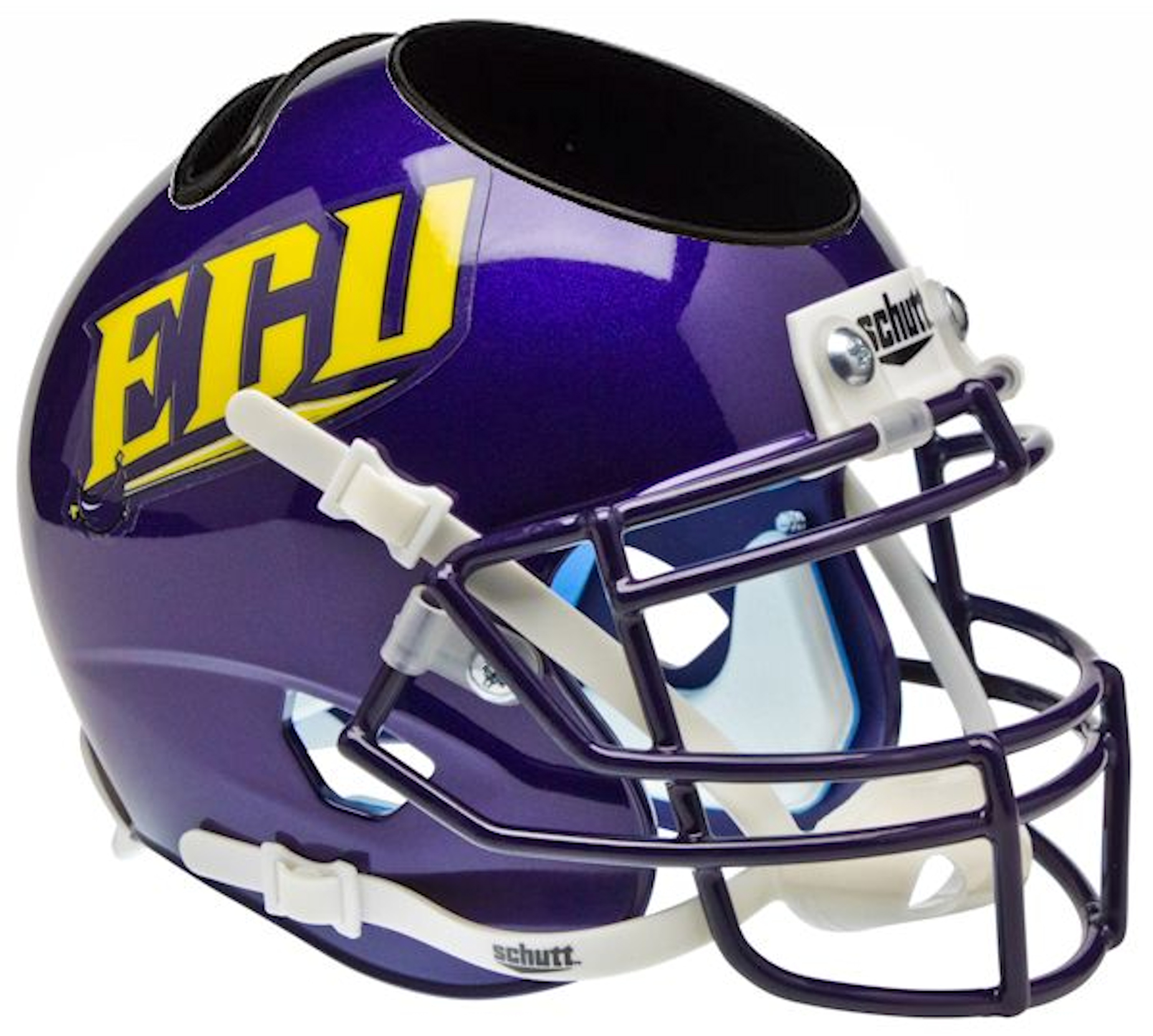 East Carolina Pirates Miniature Football Helmet Desk Caddy <B>ECU</B>