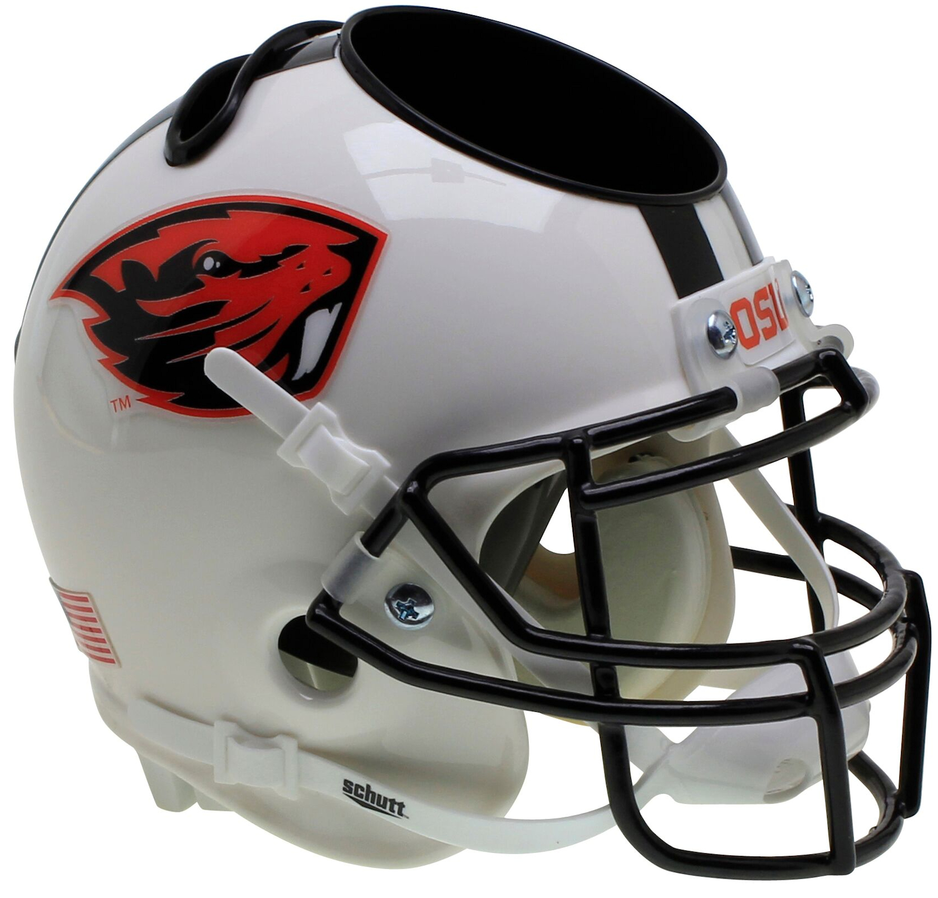 Oregon State Beavers Miniature Football Helmet Desk Caddy <B>White Beaver</B>