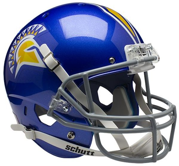 San Jose State Spartans Full XP Replica Football Helmet Schutt