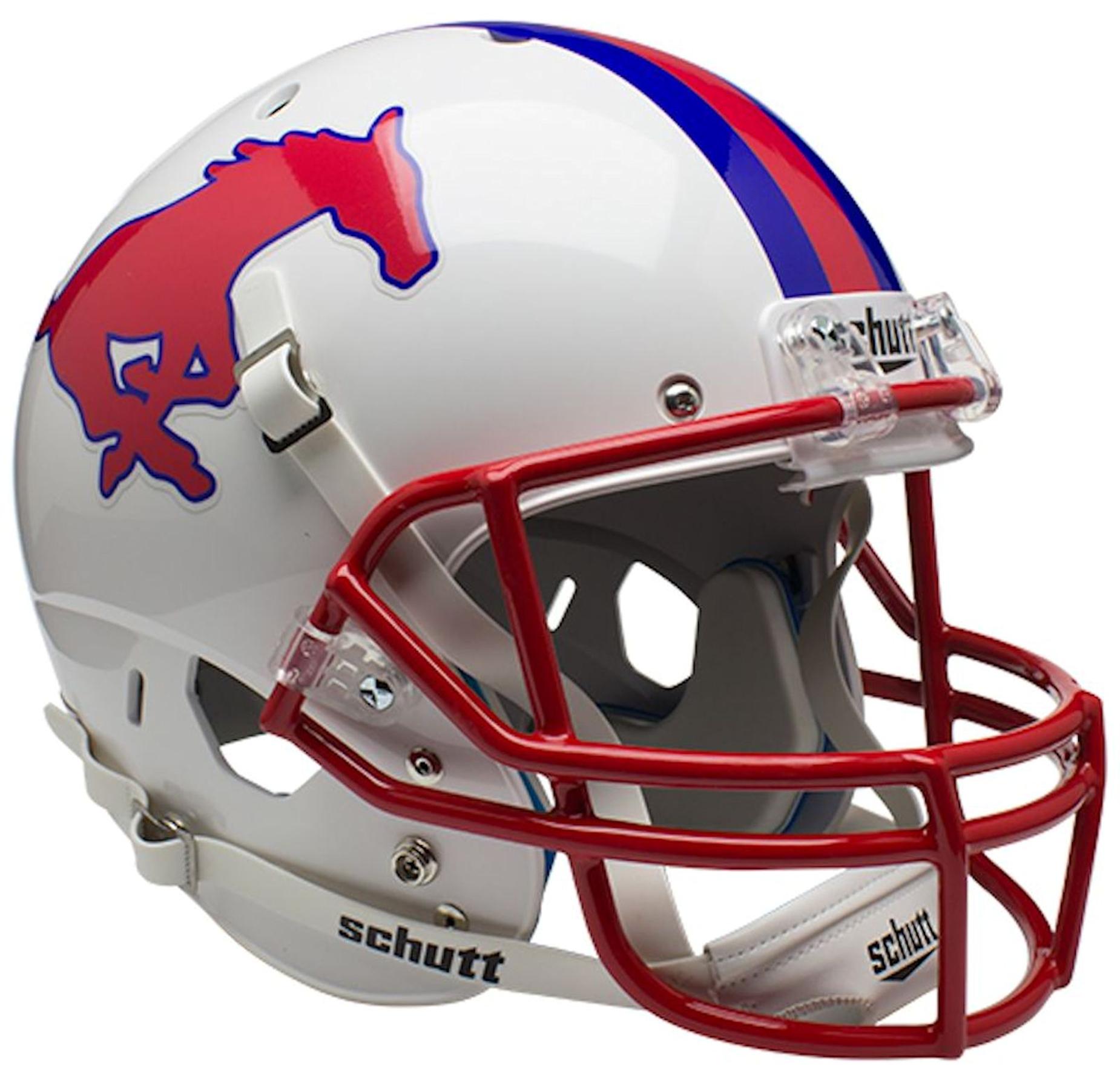 Southern Methodist (SMU) Mustangs Full XP Replica Football Helmet Schutt