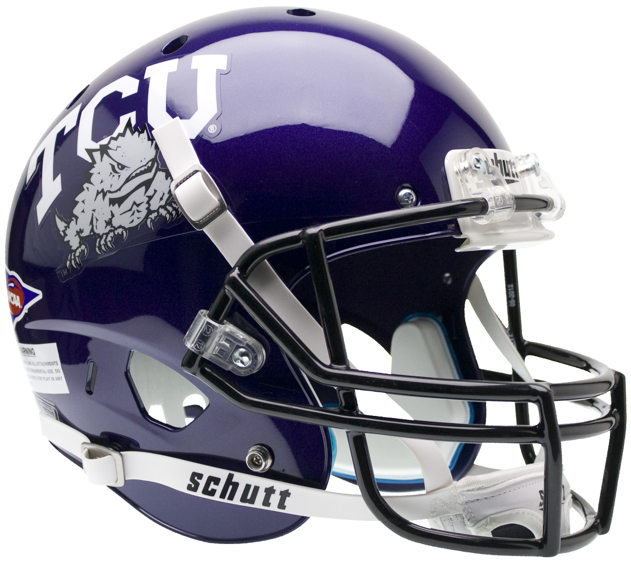 TCU Horned Frogs Full XP Replica Football Helmet Schutt