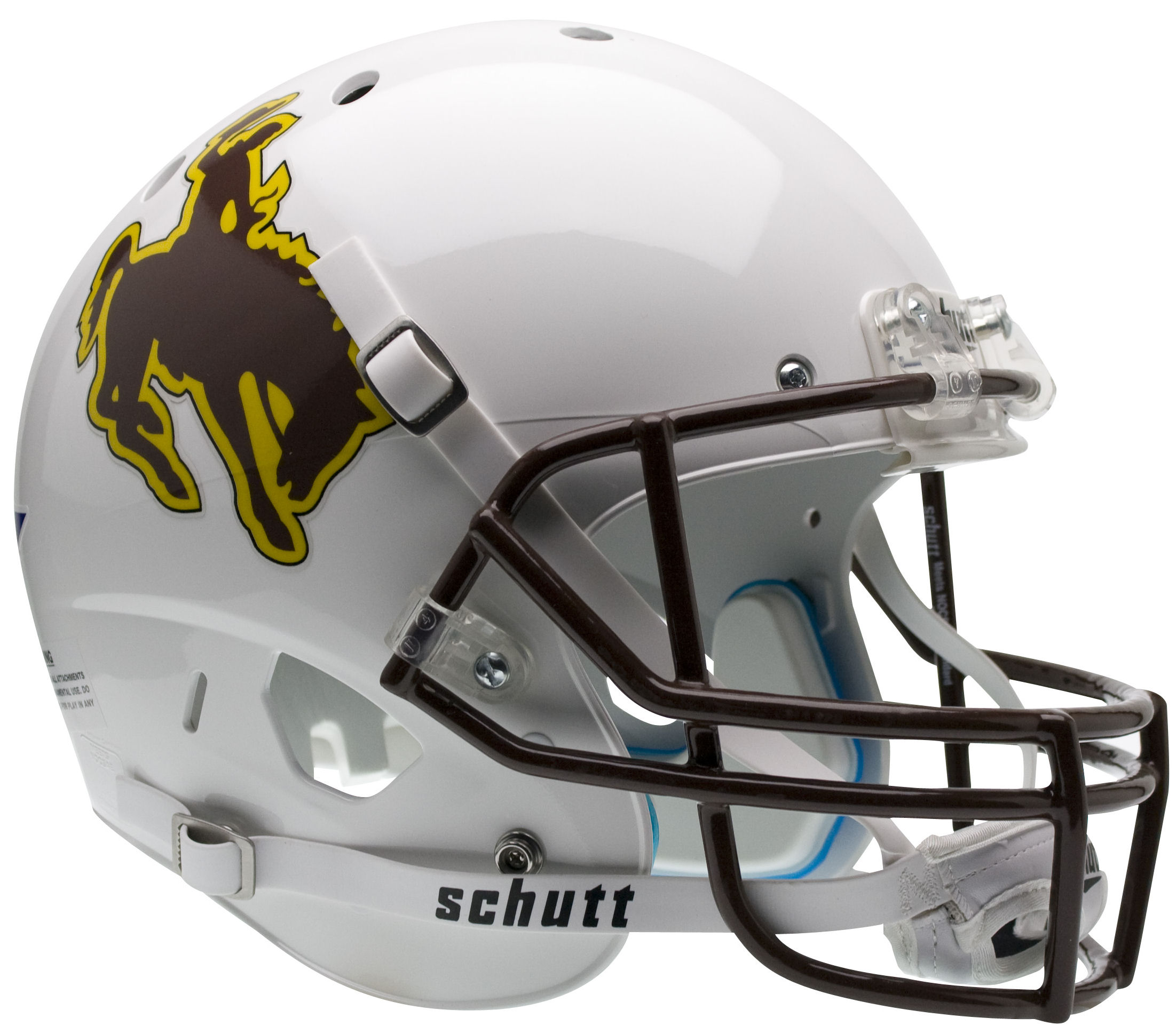 Wyoming Cowboys Full XP Replica Football Helmet Schutt
