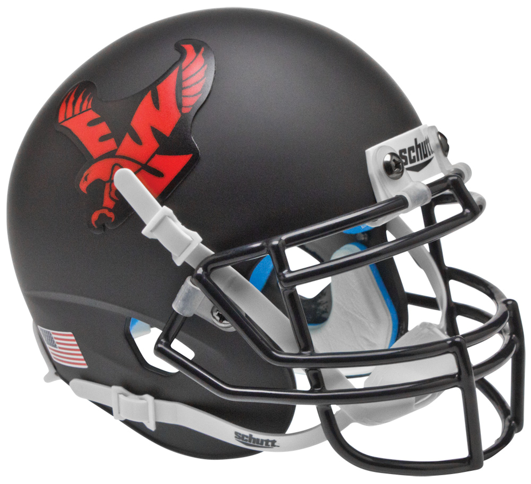 Eastern Washington Eagles Mini XP Authentic Helmet Schutt <B>Matte Black</B>