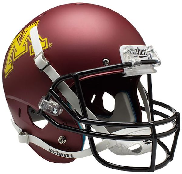 Minnesota Golden Gophers Full XP Replica Football Helmet Schutt <B>Matte</B>