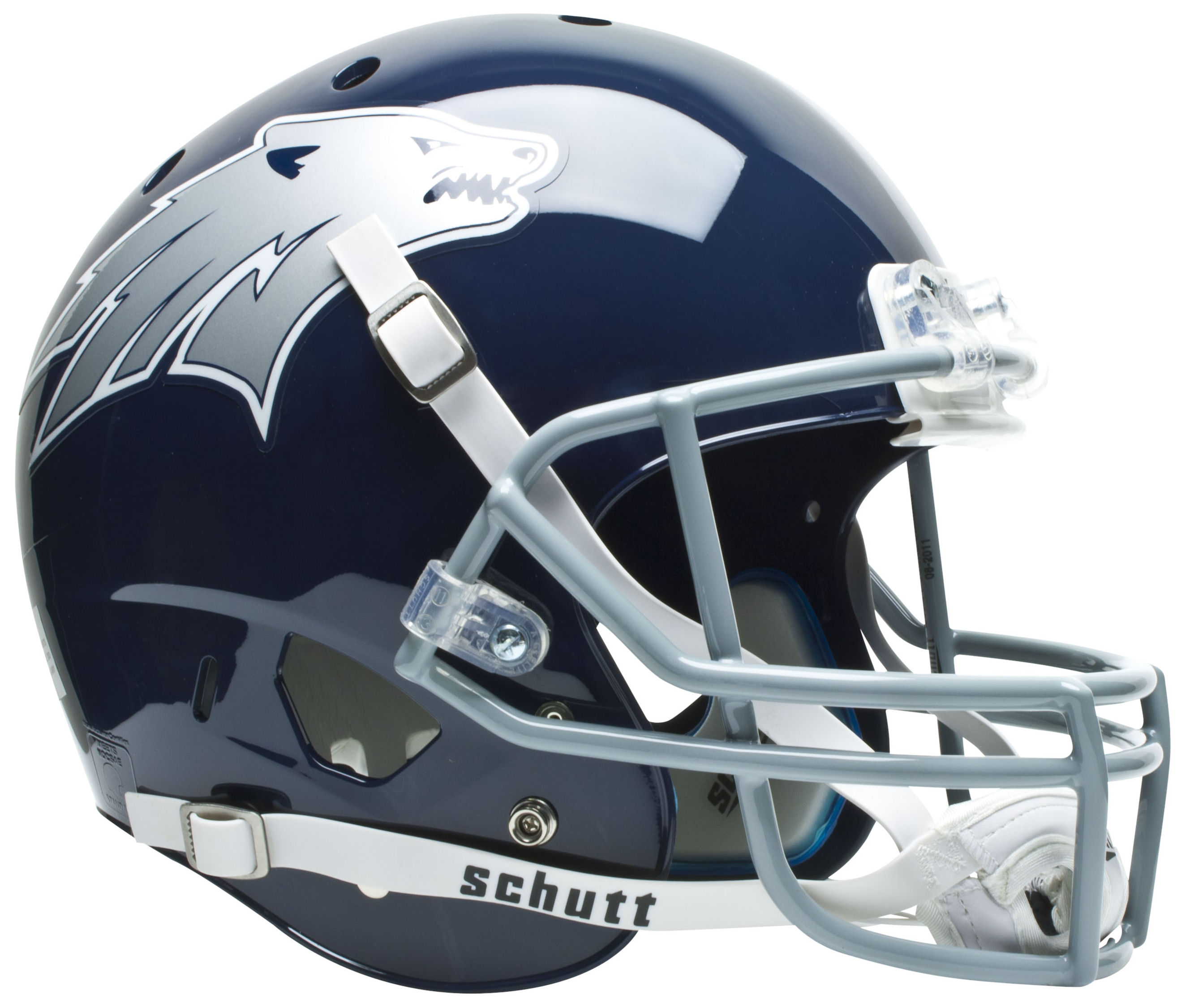 Nevada Wolfpack Full XP Replica Football Helmet Schutt