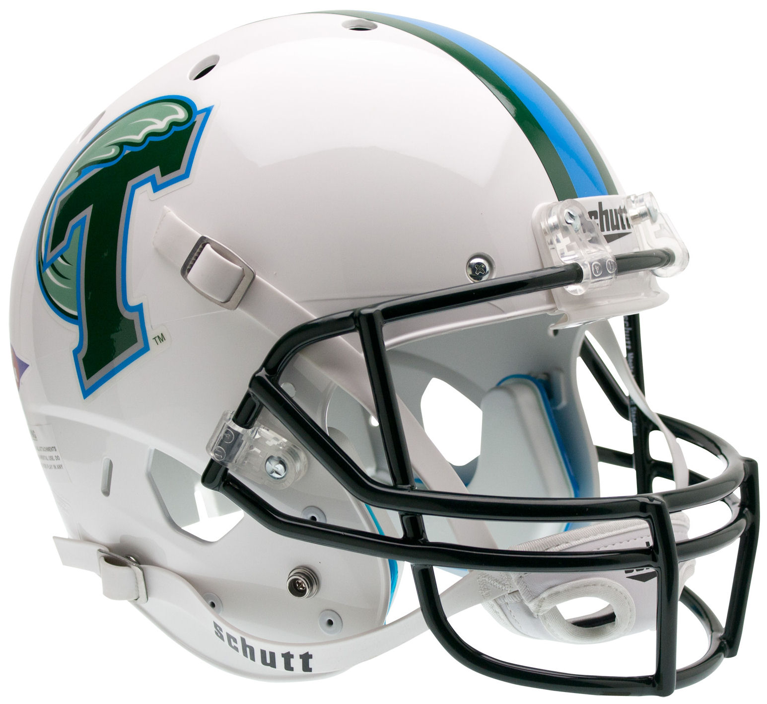 Tulane Green Wave Full XP Replica Football Helmet Schutt