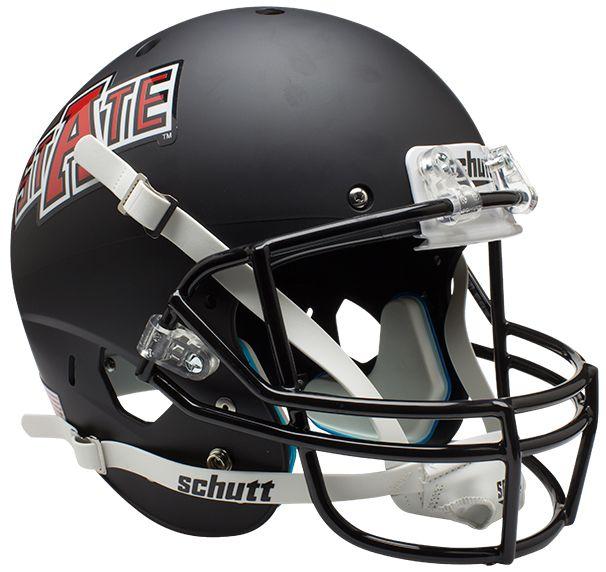 Arkansas State Red Wolves Full XP Replica Football Helmet Schutt <B>Matte Black</B>
