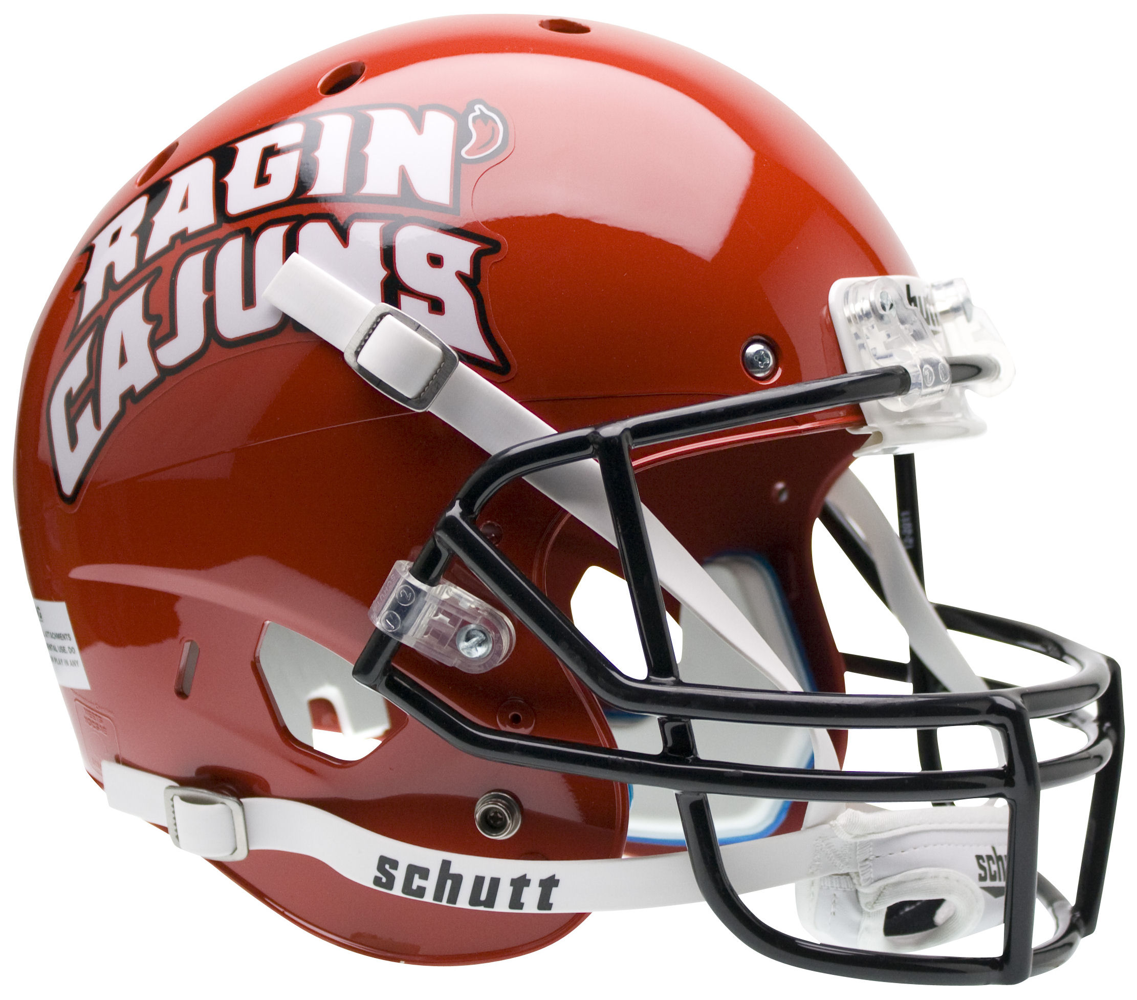 Louisiana (Lafayette) Ragin Cajuns Full XP Replica Football Helmet Schutt