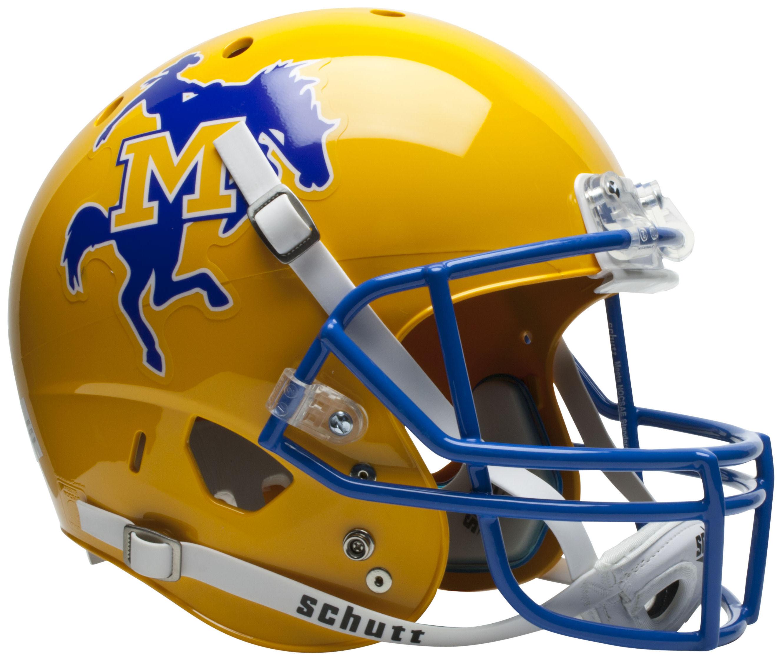 McNeese State Cowboys Full XP Replica Football Helmet Schutt