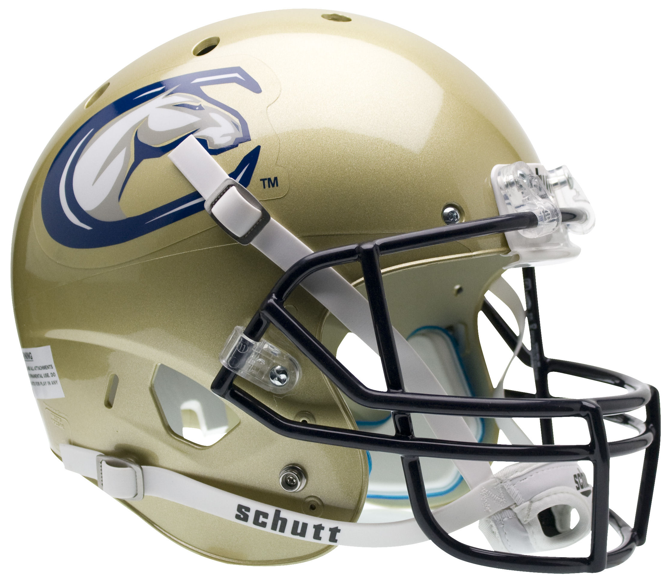 UC Davis Aggies Full XP Replica Football Helmet Schutt