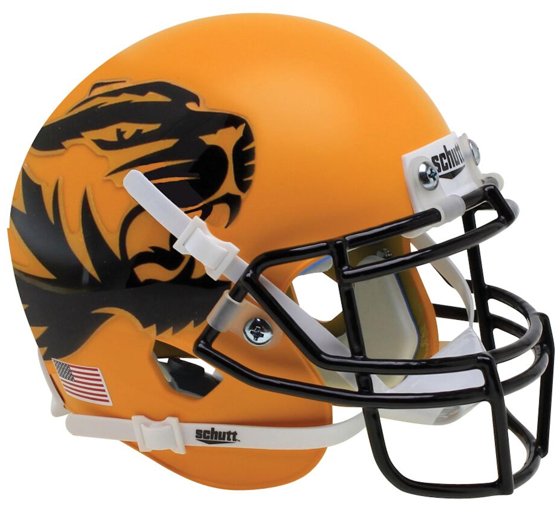 Missouri Tigers Mini XP Authentic Helmet Schutt <B>Yellow Large Tiger</B>