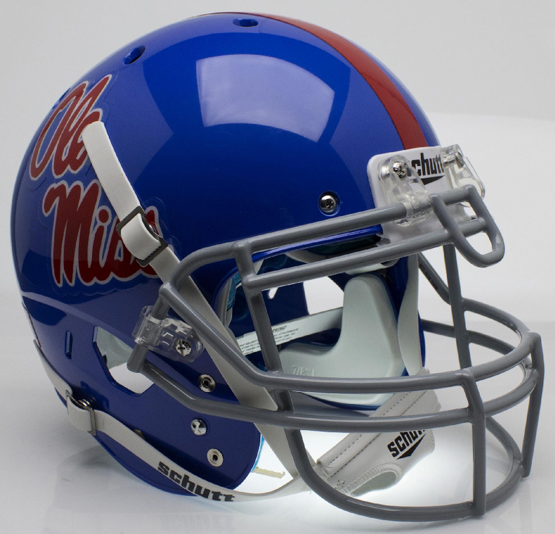 Mississippi (Ole Miss) Rebels Authentic College XP Football Helmet Schutt <B>Powder Blue</B>