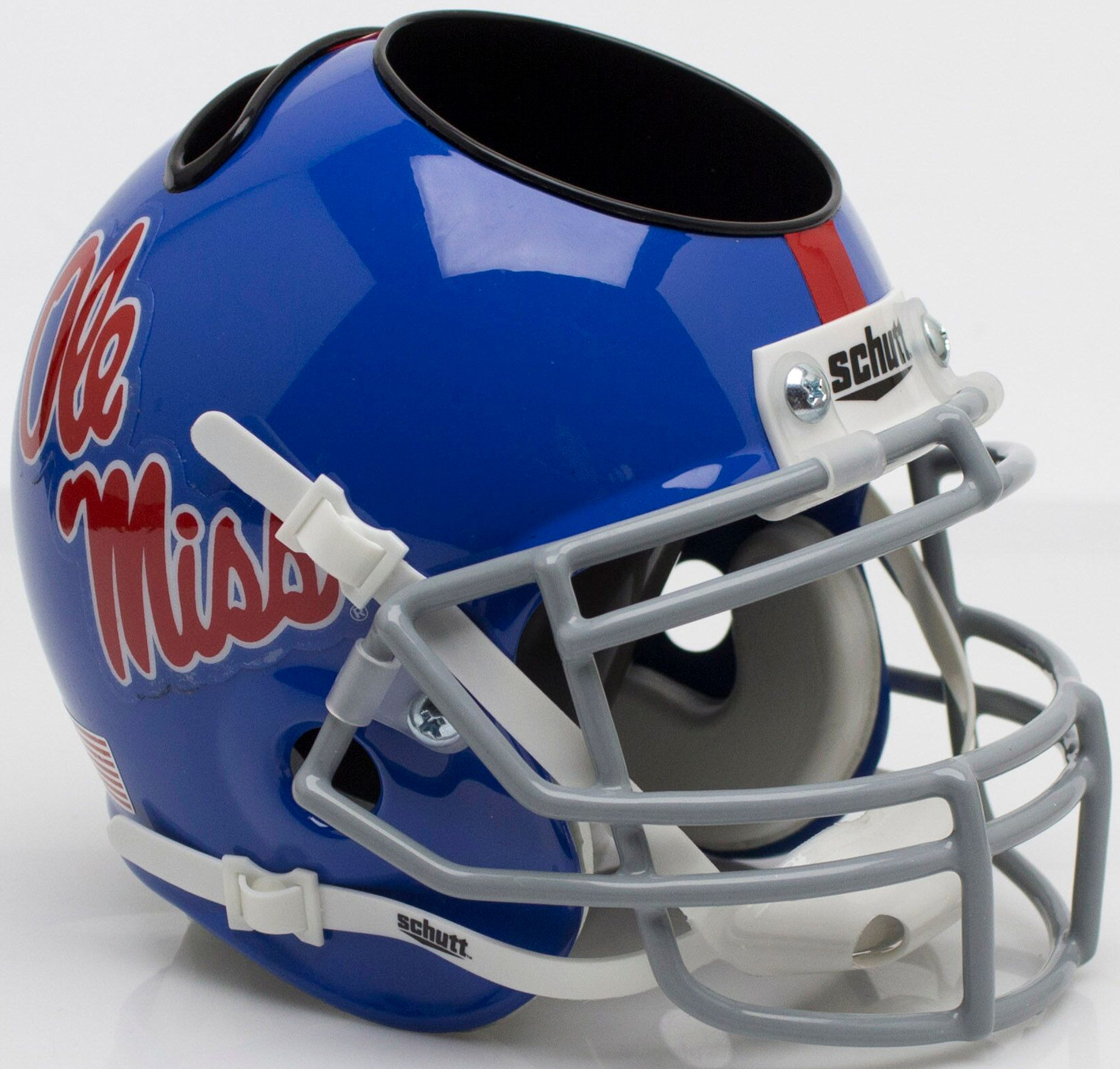 Mississippi (Ole Miss) Rebels Miniature Football Helmet Desk Caddy <B>Powder Blue</B>