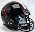 Louisiana (Lafayette) Ragin Cajuns Full XP Replica Football Helmet Schutt <B>Black with Fleur De Lis</B>